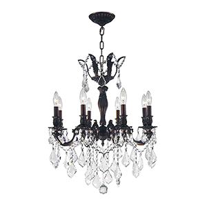 Versailles Flemish Brass 22-Inch Eight-Light Chandelier