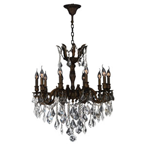 Versailles Flemish Brass Ten-Light Chandelier