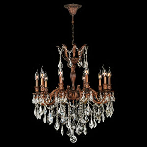 Versailles French Gold Ten-Light Chandelier