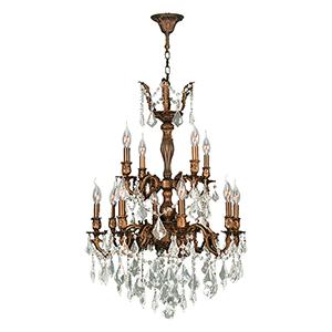 Versailles Flemish Brass Twelve-Light Chandelier