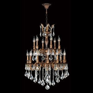 Versailles French Gold Eighteen-Light Chandelier