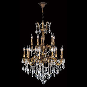 Versailles 15-Light Antique Bronze Finish with Clear-Crystals Chandelier