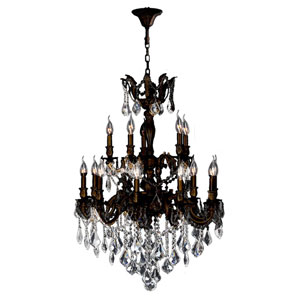 Versailles Flemish Brass Fifteen-Light Chandelier