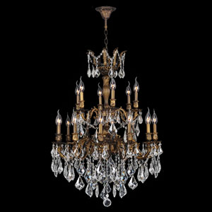 Versailles 18-Light Antique Bronze Finish with Clear-Crystals Chandelier