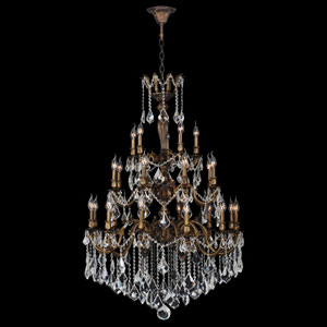 Versailles 25-Light Antique Bronze Finish with Clear-Crystals Chandelier