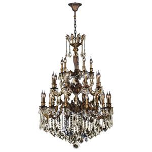 Versailles Antique Bronze Twenty-Five Light Chandelier