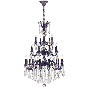 Versailles Flemish Brass 36-Inch Twenty-Five Light Chandelier