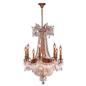 Winchester French Gold Twelve-Light Chandelier