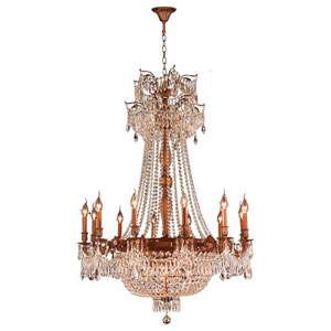 Winchester French Gold Eighteen-Light Chandelier