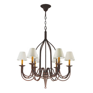 Saratoga Flemish Brass Six-Light Chandelier