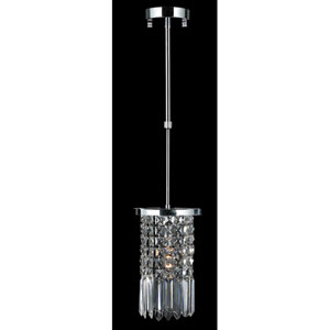 Torrent Chrome Finish with Clear-Crystals Mini-Pendant