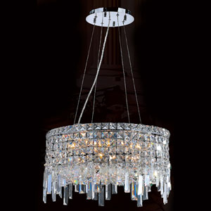 Cascade 12-Light Chrome Finish with Clear-Crystals Chandelier
