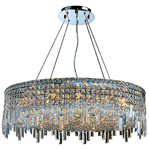 Cascade Polished Chrome Eighteen-Light Pendant