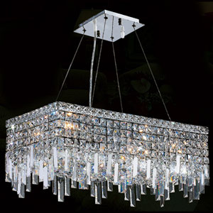 Cascade Six-Light Chrome Finish with Clear-Crystals Chandelier
