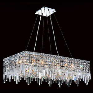 Cascade 16-Light Chrome Finish with Clear-Crystals Chandelier