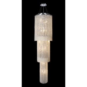 Prism 18-Light Chrome Finish with Clear-Crystals Chandelier 3 Tiers
