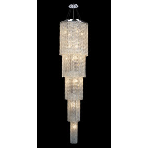 Prism 19-Light Chrome Finish with Clear-Crystals Chandelier 5 Tiers
