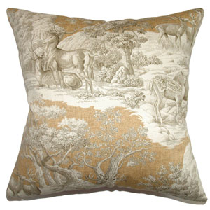 Feramin Toile Pillow Safari Front