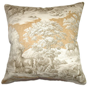 Feramin Toile Pillow Safari Back