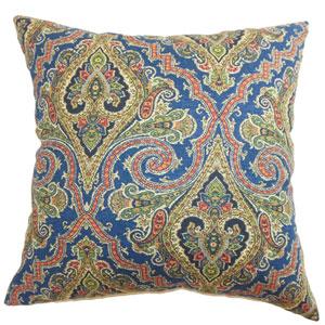 Iberia Paisley Pillow Blue Gold