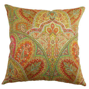 La Ceiba Paisley Pillow Citrus