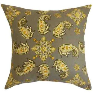 Niamh Black 18 x 18 Paisley Throw Pillow