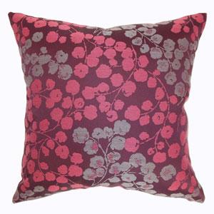 Fleur Floral Pillow Bourdeaux