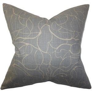 Eames Gray 18 x 18 Floral Throw Pillow