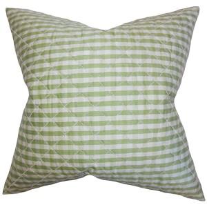 Addisyn Green 18 x 18 Plaid Throw Pillow