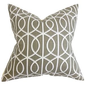 Lior Brown 18 x 18 Geometric Throw Pillow
