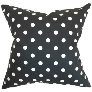 Nancy Black 18 x 18 Patterned Throw Pillow