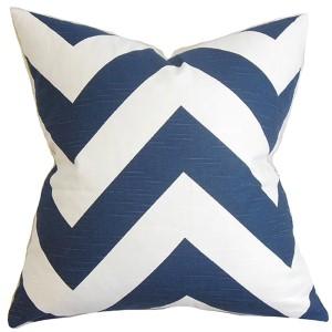 Eir Blue 18 x 18 Zigzag Throw Pillow