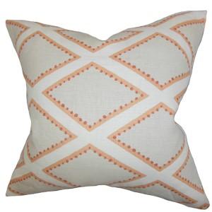 Alaric Gray 18 x 18 Geometric Throw Pillow