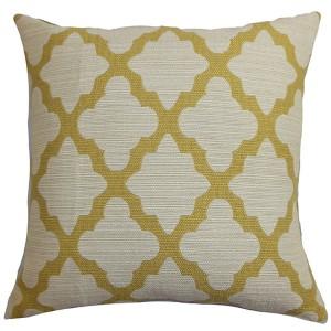 Odalis Yellow 18 x 18 Geometric Throw Pillow