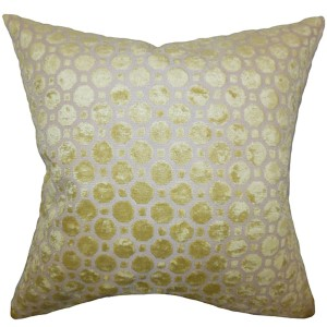 Kostya Orange 18 x 18 Geometric Throw Pillow