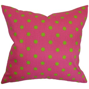 Nancy Candy Pink 18 x 18 Patterned Throw Pillow