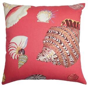 Rayen Pink 18 x 18 Coastal Throw Pillow