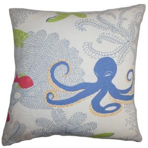 Ondine Multicolor 18 x 18 Coastal Throw Pillow