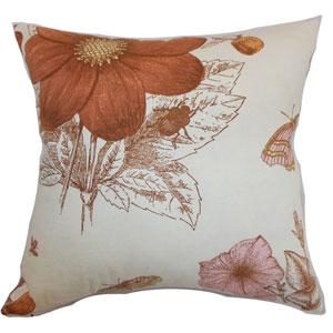 Mareeba Floral Pillow Persimmon