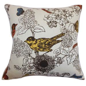 Ouvea Birds Pillow Multi-Colored
