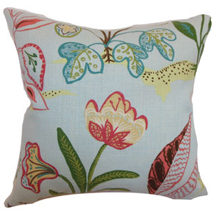 Unayzah Floral Pillow Sky Blue