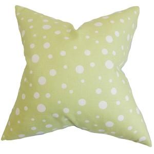Bebe Green 18 x 18 Dots Throw Pillow