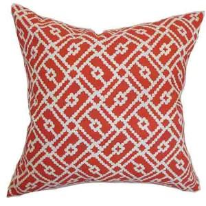 Majkin Red 18 x 18 Geometric Throw Pillow