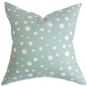 Bebe Sea Blue 18 x 18 Dots Throw Pillow