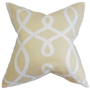 Chloris Neutral 18 x 18 Geometric Throw Pillow