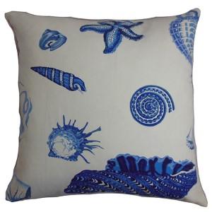 Rayen Blue 18 x 18 Coastal Throw Pillow