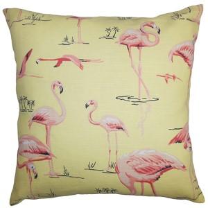 Qusay Pink 18 x 18 Animal Throw Pillow