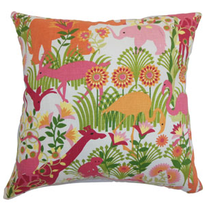 Caprivi Flora & Fauna Pillow Bubblegum