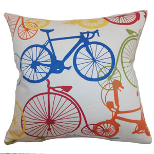 Echuca Bicycles Pillow Multi-Colored