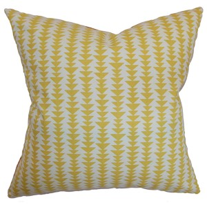 Jiri Yellow 18 x 18 Geometric Throw Pillow